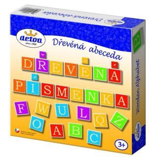 Dřevěná abeceda v krabici 23x23x5cm [HRAČKA]